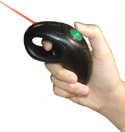 wireless presenter mouse built-in laser pointer